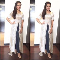 Instagram media by shraddhakapoor - Today in Jaipur! Wearing @padmasitaa Styled by @tanghavri Make up by @shraddha.naik Hair by @amitthakur26 ❤️ #BaaghiOn29thApril