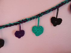 Heart Garland by RobynsCrochetNest on Etsy