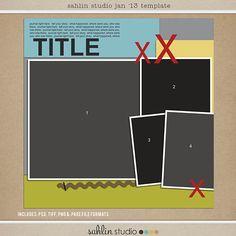 Jan '13 Digital Scrapbooking FREE Template from Sahlin Studio