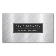 Everybody loves a journalist business cards journalistreporter reporter journalist modern brushed metal look business card reheart Images