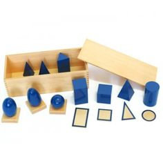 Geometric Solids With Stands, Bases, and Box Lowest Price of Montessori materials and Educational toys at IFIT Montessori. Save more on Montessori products with monthly promotions.