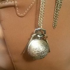 New golden snitch watch necklace New aged brass harry potter style golden snitch pocket watch necklace...great gift! Jewelry Necklaces
