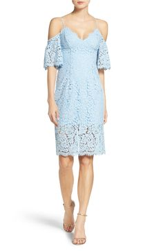 Main Image - Bardot Karlie Cold Shoulder Lace Midi Dress