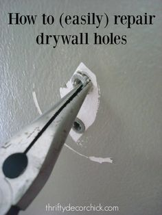 Easy Home Repair Hacks - Easily Patch Dry Wall Holes - Quick Ways To Fix Your Home With Cheap and Fast DIY Projects - Step by step Tutorials, Good Ideas for Renovating, Simple Tips and Tricks for Home Improvement on A Budget Home Renovation, Home Remodeling, Remodeling Companies, Kitchen Remodeling, Diy Projects Step By Step, Diy Home Projects Easy, Easy Crafts, Art Projects, Sewing Projects