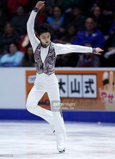 News Photo : Yuzuru Hanyu of Japan competes in the Men Short...