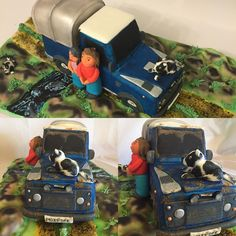 A wedding cake with a difference !!!! Created to celebrate their return from getting married in Las Vegas. This is the bride and groom stood next to their @landrover Defender along with their three dogs. The first two pictures are clean and the last two are the dirty mud splattered ones which to be honest we prefer it is after all the best 4x4xfar !! Congratulations guys from us here and many thanks for giving us the challenge.  #hatfield #welwyn #welwyngardencity #stevenage #hitchin…