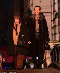Making it over:Melissa McCarthy underwent another amazing transformation as she got back to work on new film Can You Ever Forgive Me? alongside Richard E. Grant in New York this week
