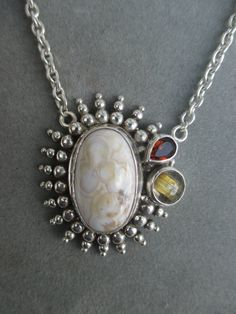One of a Kind Sterling Silver Jasper Pendant by RichelleJewelry on Etsy
