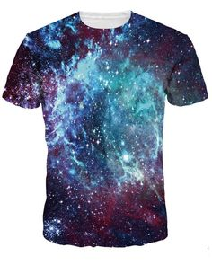 Nice Ocean Night Piece Space Print T Shirt Men Short Sleeve O-Neck Tees Casual Summer Tops Plus Size Couple Clothes Punk T Shirt Art, Shirt Men, Galaxy T Shirt, Galaxy Print, Lange T-shirts, Tumble N Dry, Galaxy Fashion, Fashion Words, Birthday Fashion