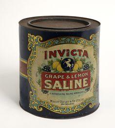 Invicta grape and lemon saline tin