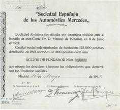 Sociedad Espanola de los Automoviles Mercedes - #scripomarket #scriposigns #scripofilia #scripophily #finanza #finance #collezionismo #collectibles #arte #art #scripoart #scripoarte #borsa #stock #azioni #bonds #obbligazioni