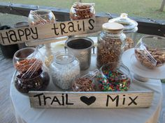 Trail mix bar for favors! @Natalie Jost Jost Grewal