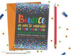 Jump Birthday Invitation, Bounce Birthday Invitation, Bounce House, Jump…