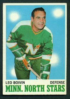 1970 71 TOPPS HOCKEY 42 LEO BOIVIN  NM MINNESOTA NORTH STARS