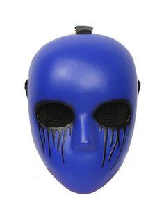 XCOSER Creepypasta Mask Eyeless Jack Cosplay Purple Resin Mask for Halloween