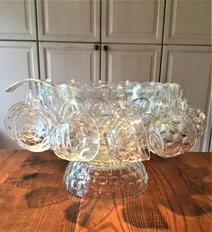 26 pce Vintage Punch Bowl Set For 12 by Yorktown Jubilee Federal Punch Bowl Set, Selling On Ebay, Bowls, Plant, Vintage, Federal, Serving Bowls, Vintage Comics, Mixing Bowls