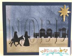 Eclipse Card with Stampin' Up Night in Bethlehem stamp set.