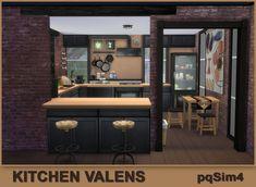 "Kitchen ""Valens"". Sims 4 Custom Content. ~ pqSim4"