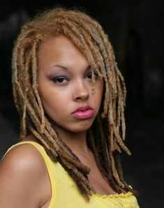 Beautiful and vibrantly dyed dreadlocks that are creative works of hair art. - Search for colors - BLUE RED GREEN Dreadlock Styles, Dreads Styles, Dreadlock Hairstyles, African Hairstyles, Dyed Dreads, Blonde Dreadlocks, Most Beautiful Black Women, Beautiful People, Nice Lips