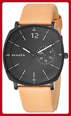 ad2a41aa441 Skagen Men s SKW6257 Rungsted Light Brown Leather Watch - Fun stuff and  gift ideas ( Amazon Partner-Link)