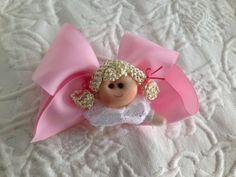 coletero doble lazo grandote en rosa con  muñequita