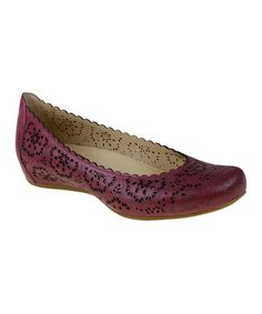 Another great find on #zulily! Raspberry Bindi Leather Flat #zulilyfinds