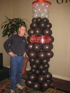Giant BalloonSculptures | Yelp Coca Cola Party, Coca Cola Decor, Coca Cola Addiction, Coca Cola Merchandise, Deco Ballon, Coca Cola Christmas, Balloon Stands, Cola Cake, Always Coca Cola