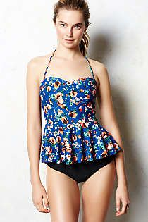 Anthropologie - Mix-and-Match Peplum Tankini