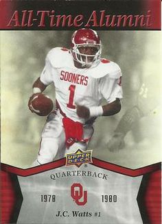 2011 Upper Deck University of Oklahoma - All-Time Alumni #ATA-JC J.C. Watts Front