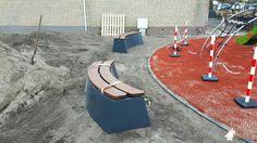 Betonbank DeLuxe Antraciet Ovaal bij Camping de Wulp bv in Noordwijk