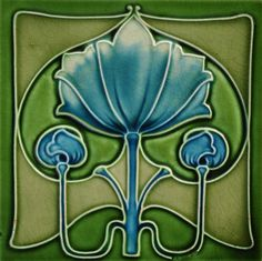 J & W Wade c1905 – RS0208 - Art Nouveau Tiles