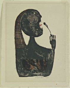 Jean Dubuffet. Woman Eating (Mangeuse). 1944