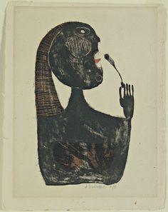 Jean Dubuffet. Woman Eating (Mangeuse). 1944