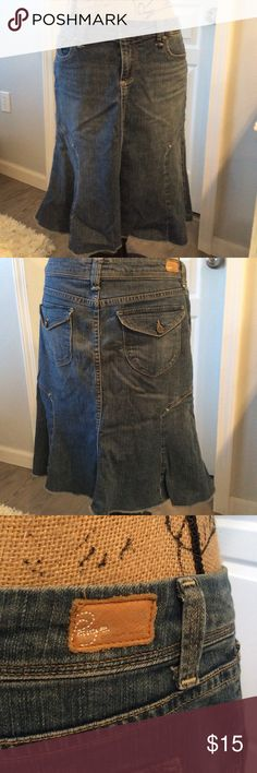 Paige brand skirt Knee length A line denim skirt PAIGE Skirts A-Line or Full