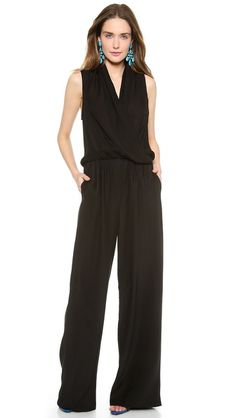 black silk jumpsuit // chic
