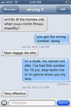 Creative text message responses to wrong numbers.