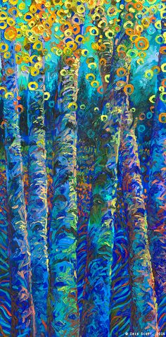 Official website of Iris Scott, finger painting artist working in Brooklyn NY. Finger Paint Art, Finger Painting, Artist Painting, Artist Art, Iris, Art For Sale Online, Online Art, Tree Artwork, Fantasy Paintings