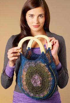 Textured handbag: free pattern