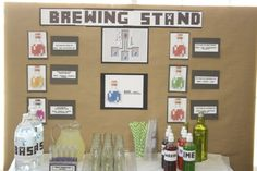 Minecraft party ideas drink station