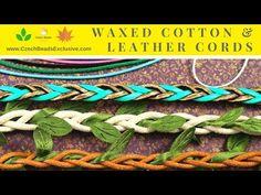 Video! CORDS Waxed Cotton and Leather ? Leaf Braided Cotton & Cowhide     #dawanda #dawanda_de #dawandashop #etsy #etsyshop #etsystore #etsyfinds #etsyseller #amazon #amazondeals #alittlemercerie #waxed #waxedcotton #waxedcord #leathercord #braidedcord #cottoncord #cowhide #leather #braided #czechbeads #glassbeads #czechglassbeads #czechglassjewelry
