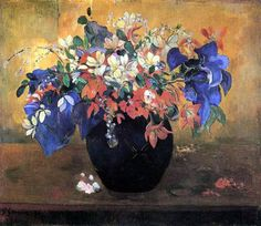 Paul Gauguin – Jarrón de flores, 1896
