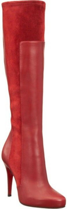 Red boots best of both worlds leather and suede