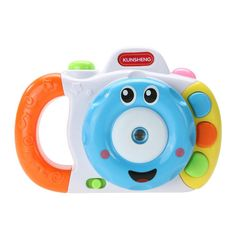 Toy Camera Cute Cartoon Baby Mini Projection Camera with 4 Patterns Kids Story Telling Musical Toy Early Education Toys Children
