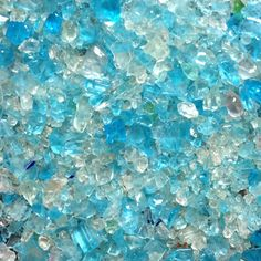 I love this glass aggregate color. Imagine how beautiful this would look in a bathroom countertop!