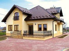 Bungalow Haus Design, Duplex House Design, Dream House Exterior, Dream House Plans, Roof Styles, House Styles, Balcony Railing Design, Modern Villa Design, House Roof