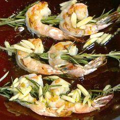 Michael Symon's Rosemary Shrimp With Almonds