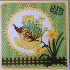 Lentexxxjes is groen en geel met narcissen naar Turkije Marianne Design Cards, Bugs, Butterfly, Summer, Handmade, Animals, Inspiration, Cards, Biblical Inspiration