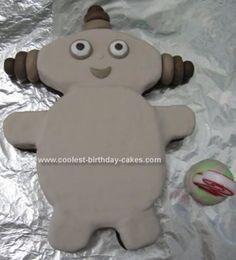 Homemade Makka Pakka Birthday Cake: My daughter's favourite In the Night Garden Character is Makka Pakka.  Therefore for her 2nd birthday I decided to attempt to create a Makka Pakka birthday
