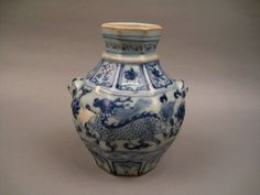 Extremely Rare Example Of Small Octagonal Shape Jar, Yuan Dynasty 14th Century.