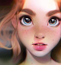 Irakli nadar digital painting portrait illustration в 2019 г Drawing Faces, Cool Drawings, Human Drawing, Cartoon Drawings, Drawings Of Girls Faces, Drawings Of Eyes, Digital Painting Portrait, Digital Paintings, Painting Art